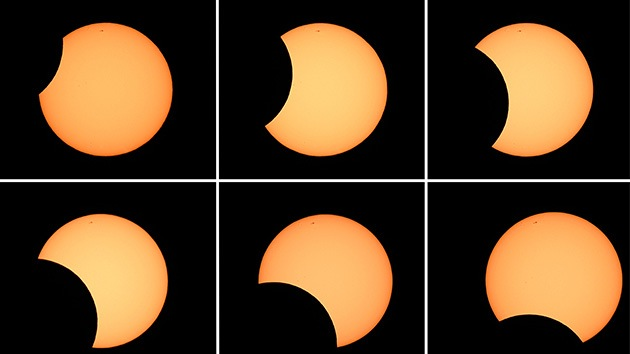 Video, fotos: Un espectacular eclipse anular solar deslumbra Australia