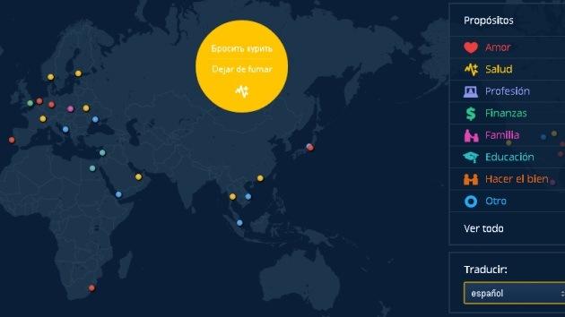 Los deseos de todo el mundo para 2013 caben en un mapa de Google