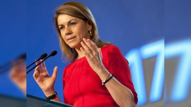 """De Cospedal: """"Durante la crisis, el Gobierno debe tomar decisiones valientes"""""""