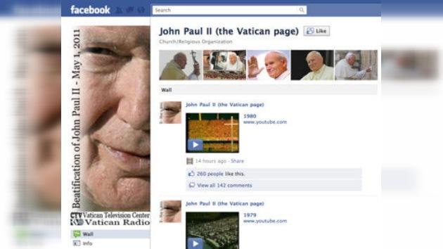 El Vaticano lanza las cuentas de Juan Pablo II en Facebook y Youtube