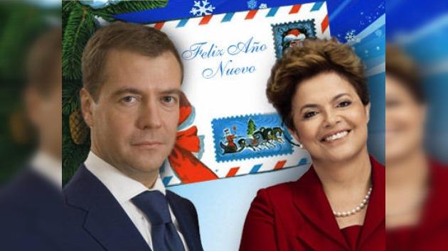 Presidente de Rusia confía con fructífera cooperación con Dilma Rousseff