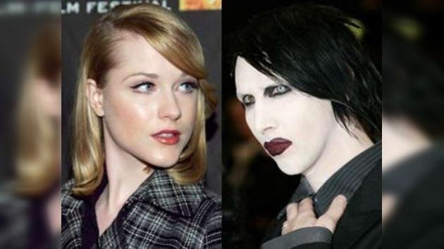 Marilyn Manson se casará con la actriz de 22 años Evan Rachel Wood