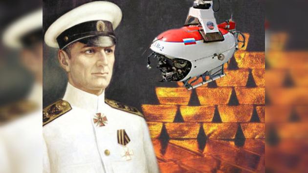 Hallan el posible 'oro del almirante Kolchak' en el fondo del lago Baikal