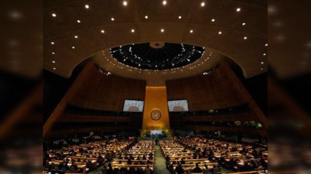 Situación en Oriente Próximo, lema principal de la 66 Asamblea General de la ONU
