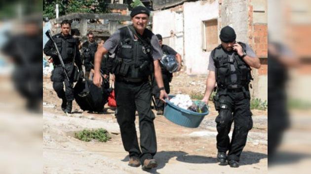 Descubren un 'narcotunel' en una favela de Río de Janeiro