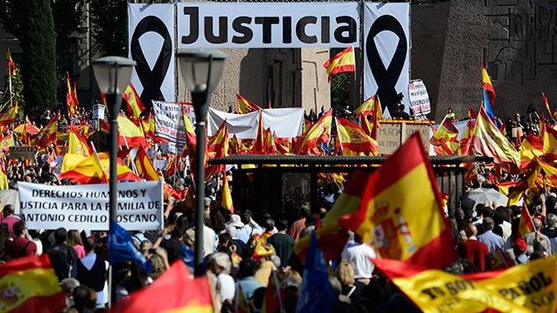 Protestas en Madrid contra la excarcelación de terroristas de ETA