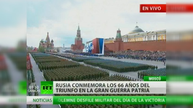 Rusia comienza la celebración del 66 aniversario de la Gran Victoria