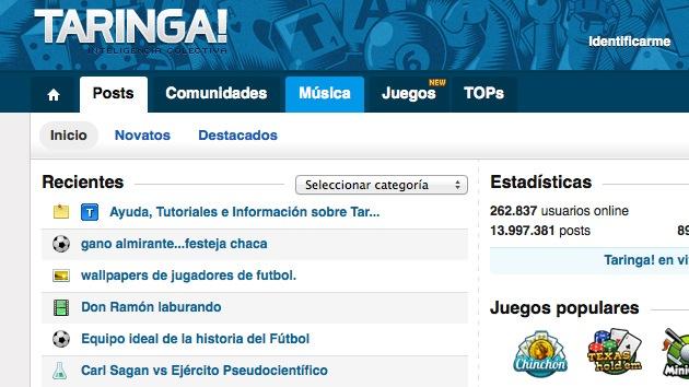 Los dueños del sitio Taringa!, juzgados por permitir descargas ilegales