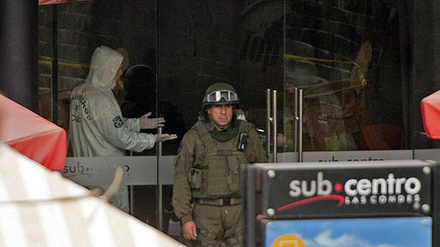 Fotos, Video: Un acto terrorista en el metro de la capital de Chile deja heridos