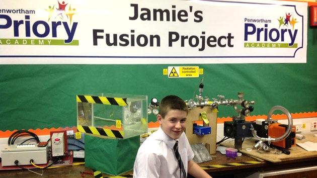 Un adolescente de 13 años crea un reactor de fusión nuclear