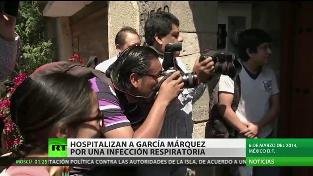 Hospitalizan al escritor colombiano Gabriel García Márquez en México