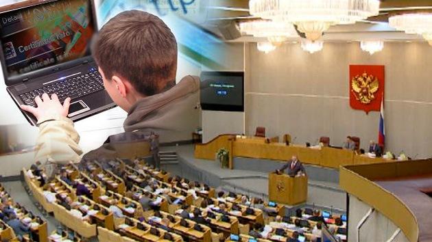 Legisladores rusos aprueban la creación de una 'lista negra' de páginas web