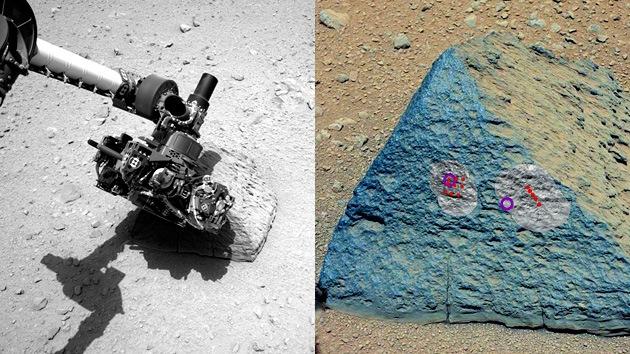 El Curiosity halla en Marte una roca con una composición química inusual