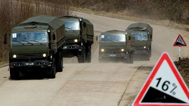 Rusia envía 75 vehículos blindados a Siria para el transporte de las armas químicas