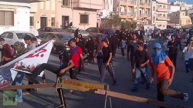Bahréin: La Policía lanza gases lacrimógenos a manifestantes pacíficos