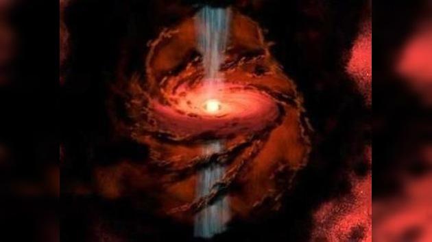 Hallan una estrella 'fuente' que expulsa agua al espacio