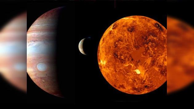Venus, Júpiter y la Luna brindan un espectacular fenómeno astronómico