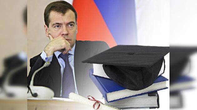 Medvédev: no hay éxitos suficientes en la esfera de las innovaciones