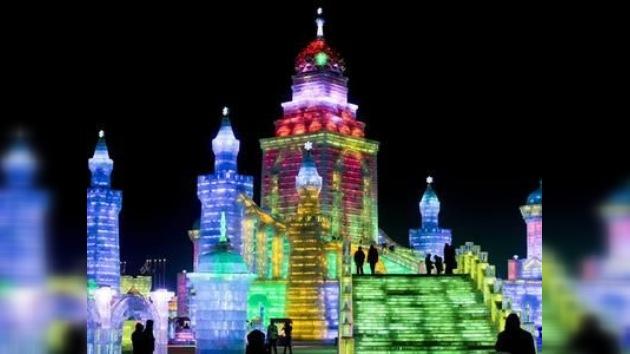 China levanta una ciudad con ladrillos de hielo