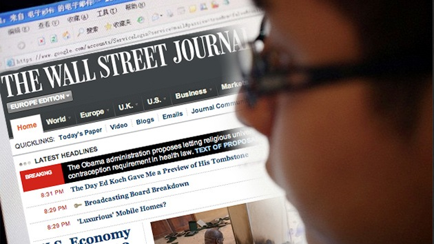 'Hackers' chinos atacan la página web de The Wall Street Journal
