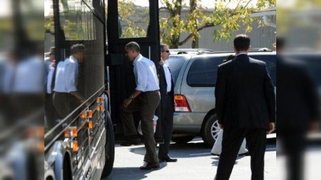 Obama, casi obligado a improvisar un discurso sin telepromter por robo