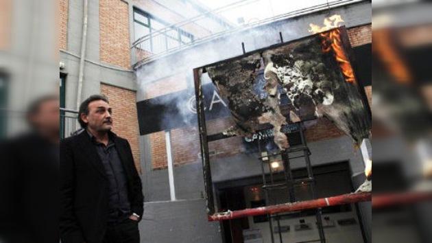 El 'arte de protestar': pinturas carbonizadas en Italia