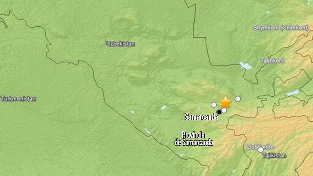 Un sismo de 6,0 sacude el sudeste de Uzbekistán