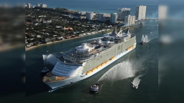 El crucero más grande del mundo hizo su primera escala en Haití