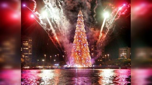 El árbol navideño de Río es el más grande del mundo