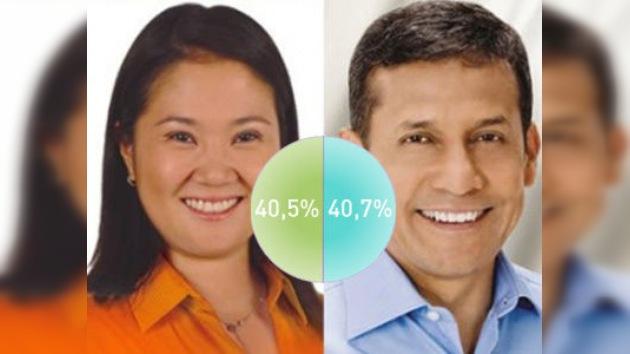 Virtual empate entre los dos candidatos presidenciales en Perú