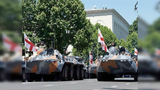 Georgia celebró su independencia con un desfile militar