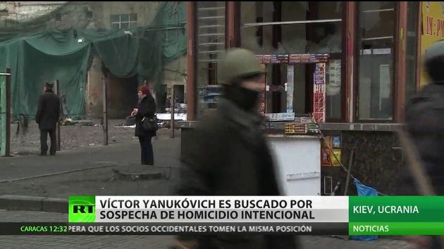 Yanukóvich es oficialmente sospechoso de asesinato premeditado