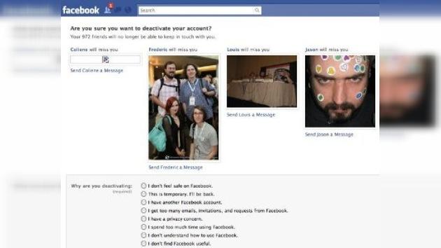 Facebook: los renegados pueden romper los corazones de sus amigos