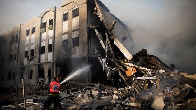 Israel bombardea el Ministerio del Interior en Gaza