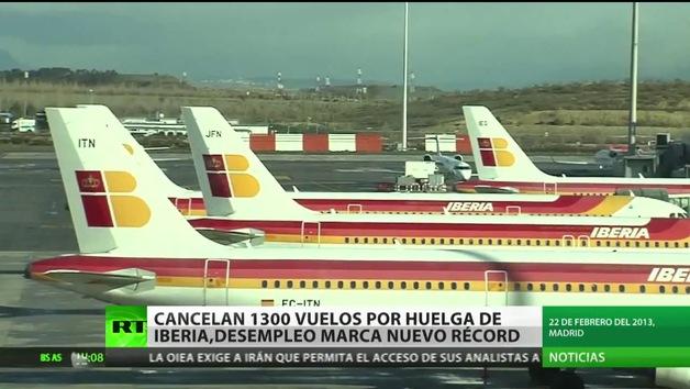 Más de 1.000 vuelos cancelados por la segunda semana de huelga de Iberia