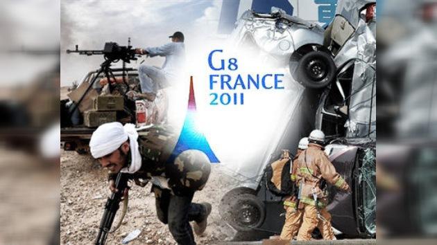 El G8 pide a la ONU presión sobre Gaddafi y acuerda ayudas a Japón
