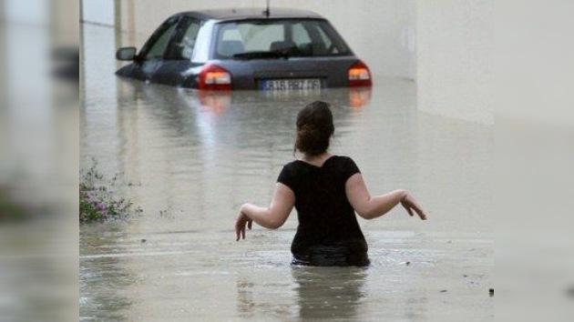 Lluvias torrenciales inundan el sur de Francia
