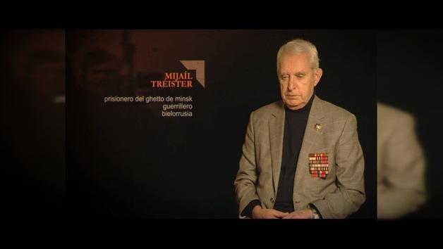 """""""TESTIGOS DE LA GUERRA"""". Mijaíl Tréister : prisionero del ghetto de Minsk guerrillero . Bielorrusia"""