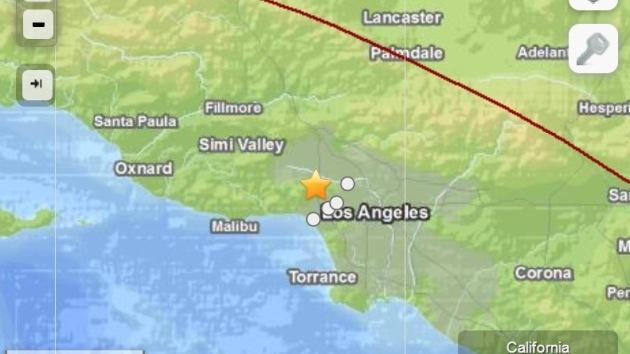 EE.UU.: Registran un sismo de magnitud 4,4 cerca de Los Ángeles
