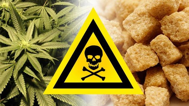 Los estadounidenses dicen que el azúcar es más dañino que la marihuana