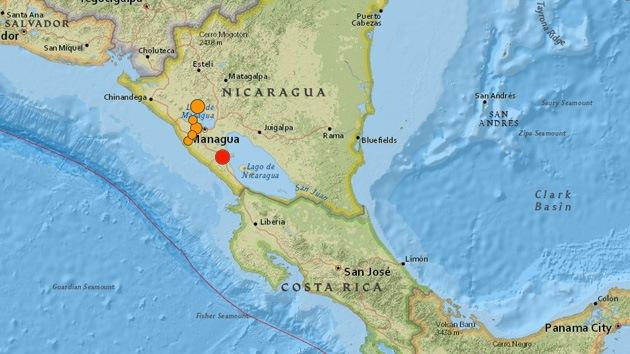 Un sismo de magnitud 6,6 sacude Nicaragua