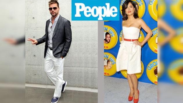 Salma Hayek y Ricky Martin, los mejor vestidos, según People