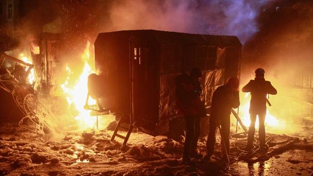 La ira de los ucranianos 'incendia' las calles de Kiev