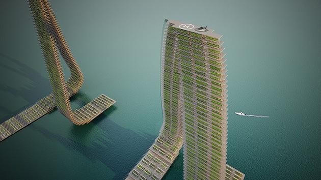 En Singapur construirán granjas flotantes verticales