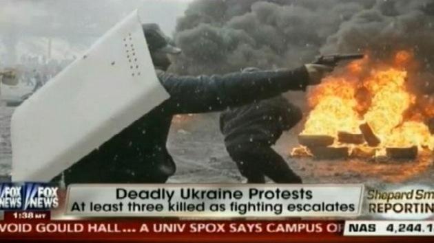 La cadena Fox News confunde a radicales con policías en Ucrania