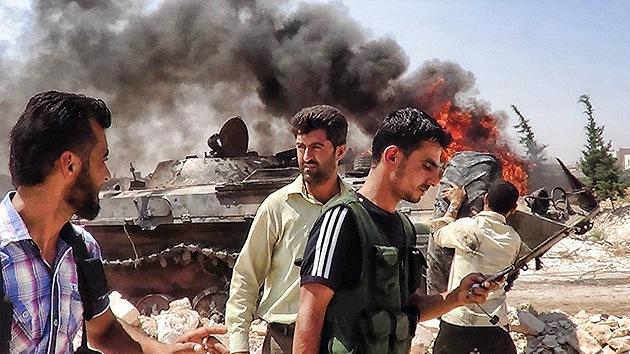 Un grupo armado toma como rehenes a los vecinos de una ciudad siria