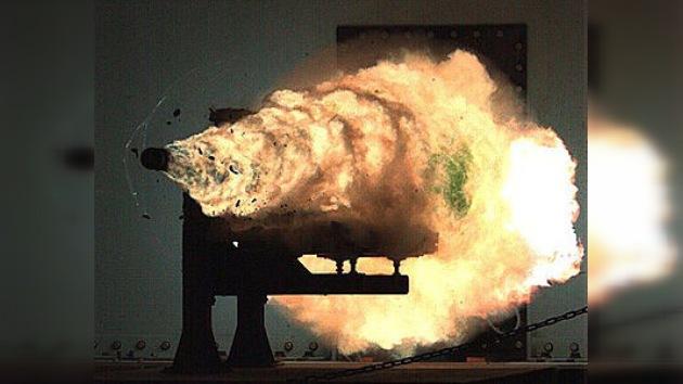 Un cañón de riel marítimo, el arma del futuro del Pentágono