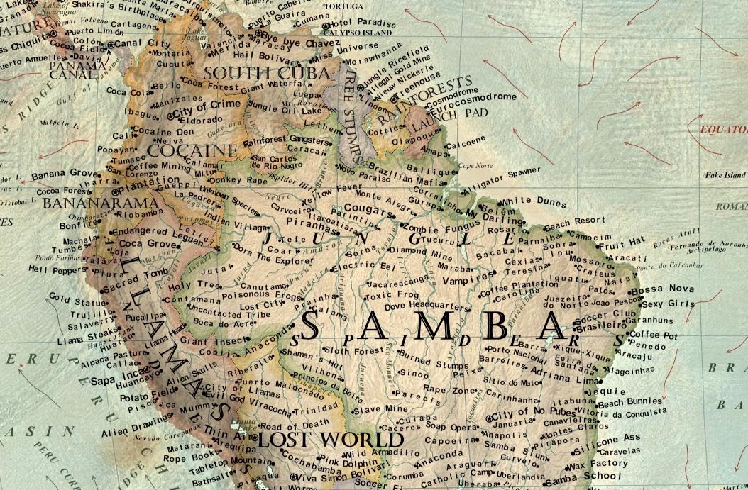 Un mapamundi muestra los estereotipos occidentales sobre los
