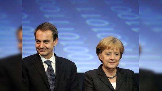 Merkel y Zapatero se reúnen para discutir problemas de la zona euro