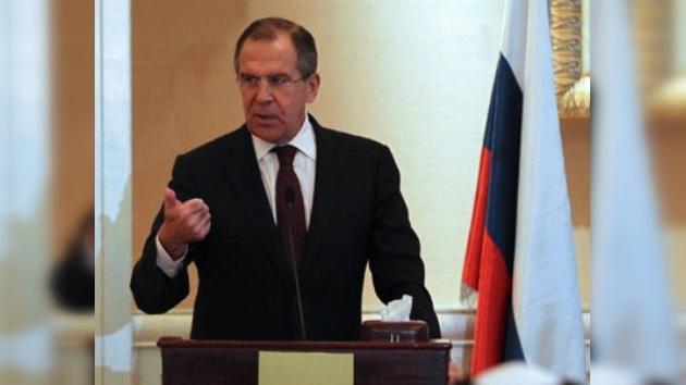 Canciller ruso: la oposición siria busca justificar una intervención extranjera